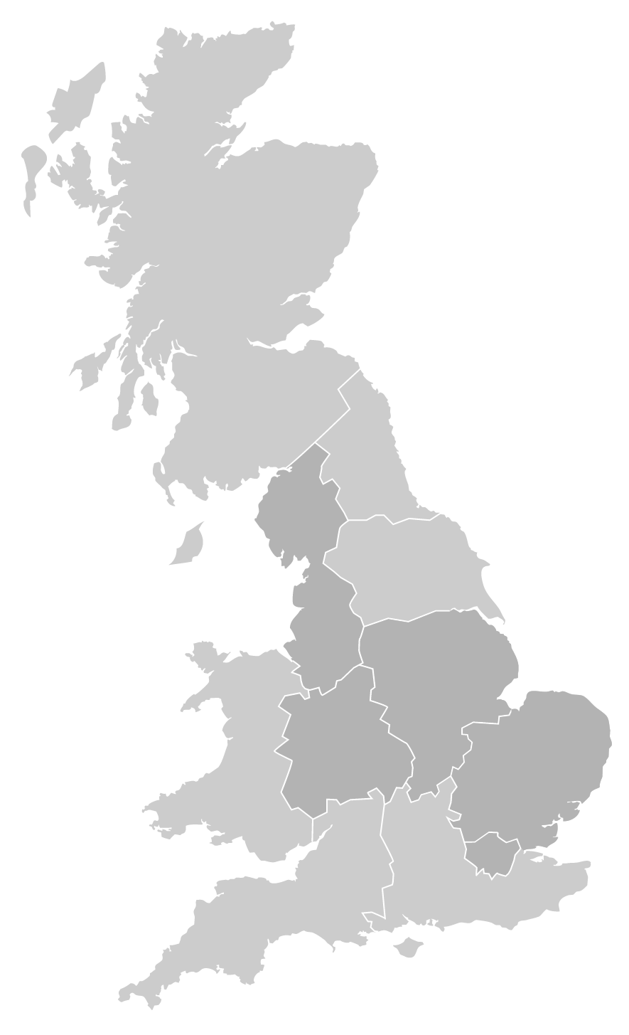 Cadent - office locations UK map