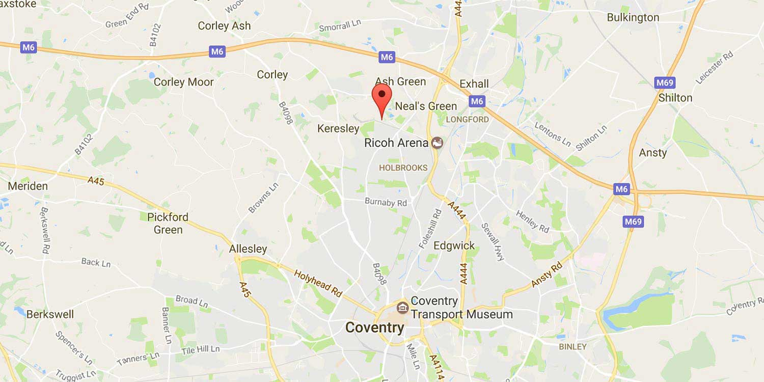 map Cadent office location Coventry